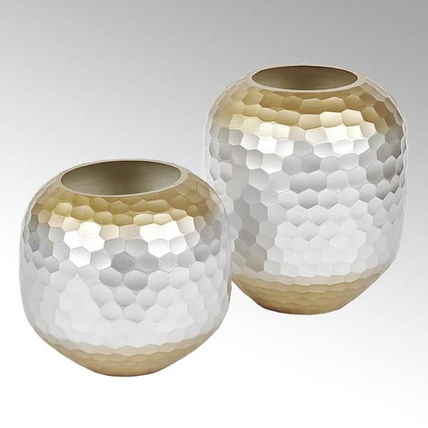 Lambert Favo Vase Farbglas silber/ gold H 27 D 23 cm