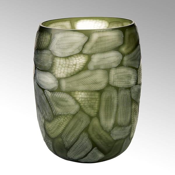 Vase Silvestro von Lambert Oliv, Rot - Höhe 45 cm