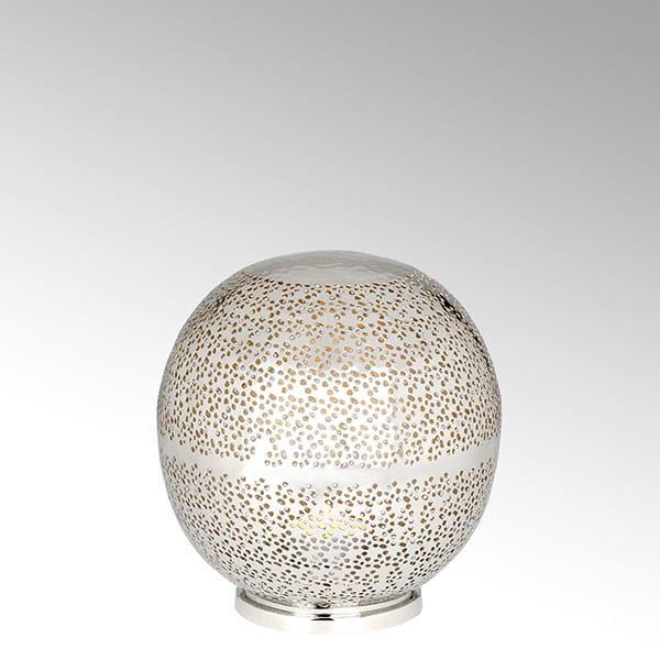 Lambert Windlicht Azrou vernickelt / Gold - Durchmesser 17 cm