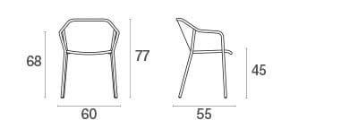 emu Darwin Gartenstuhl mit Armlehnen - Maße
