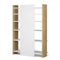 Temahome Bücherregal Niko - Eiche / Weiß, Rückseite
