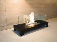 Ethanolkamin Floor Flame Schwarz