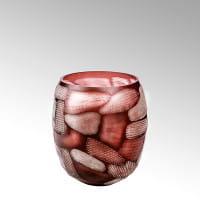 Vase Silvestro von Lambert Rot - Höhe 29 cm