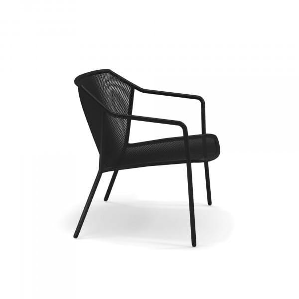 emu Darwin Loungesessel - 24 Schwarz - seitlich