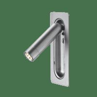 marset Wandleuchte Ledtube RSC Aluminium satiniert cut-out