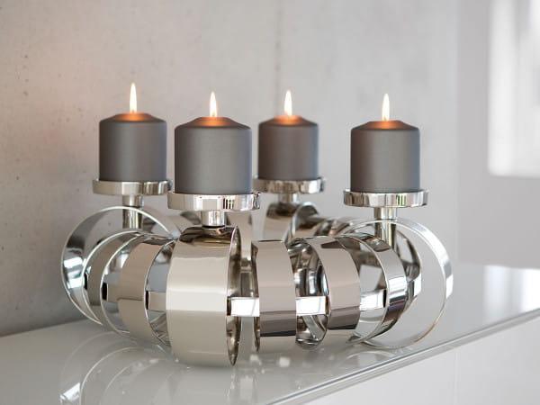 Fink Living Kerzenleuchter Anello - 50 cm, Ambiente mit Kerzen
