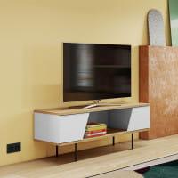 Temahome TV-Tisch Dixie - Eiche / Weiß, Ambiente