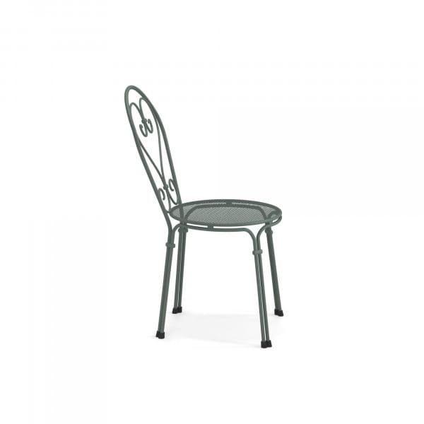 emu Outdoor Gartenstuhl Pigalle (ohne Armlehne) - 75 Dunkelgrün