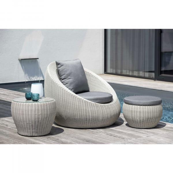 Stern Lounge-/Gartensessel Anny - Vintage Weiß / Seidengrau, Ambiente