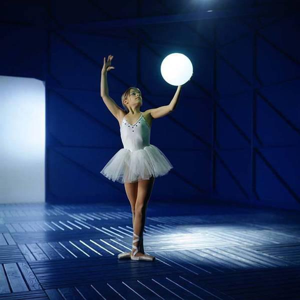 Moonlight Vollkugel Akkuleuchte BMFL Weiß Ambiente Ballett