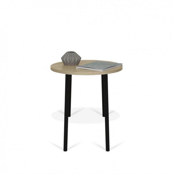 Temahome Couchtisch Ply - 50 cm Durchmesser, dekoriert