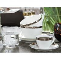 Fink Living Kaffeetasse Platinum mit Unterteller - Ambiente