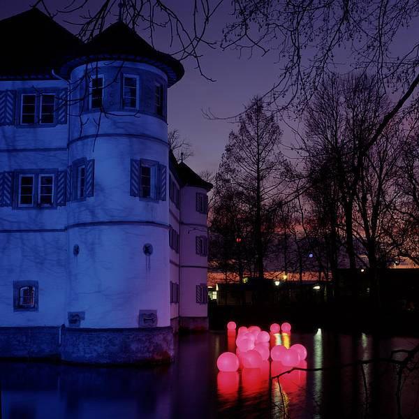 Moonlight MWV Schwimmleuchte roter Filter Schloss Nacht