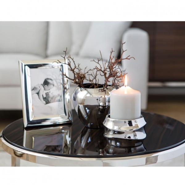Fink Living Stumpenkerzenhalter Fabia - Silber Ambiente