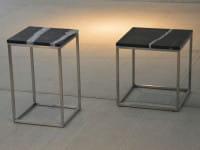 Beistelltisch Pino Marmor mit Stahlgestell