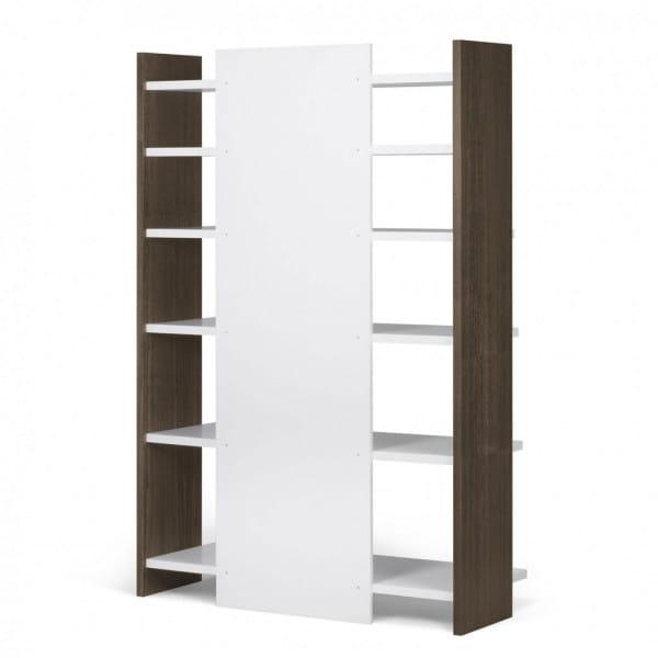 Temahome Bücherregal Niko - Walnuss / Weiß, Rückseite