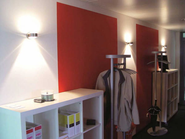 Wandleuchte Puk Wall LED Nickelmatt - Lagerverkauf