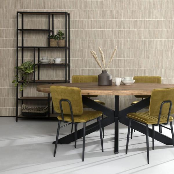 Industrial Regal Metall schwarz mit Holzböden