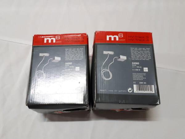 24560 Stromeinspeisung M6 HV-Track 4 nickelmatt - Lagerverkauf