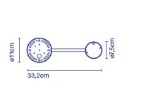 marset Zubehör C2 20/32 für Wandleuchten Ginger Maße