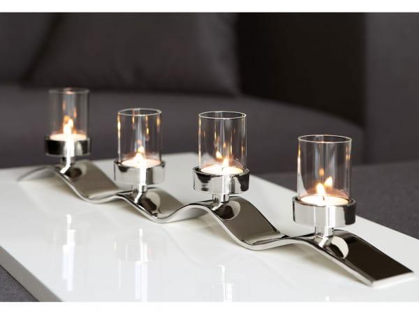Fink Living Teelichthalter Wave 4-flammig - 54cm, Ambiente