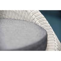 Stern Lounge-/Gartensessel Anny - Vintage Weiß / Seidengrau, Polsterdetail