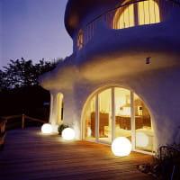 Moonlight Vollkugel MFL Ambiente Außen Gaudi-Villa Terrasse Nacht