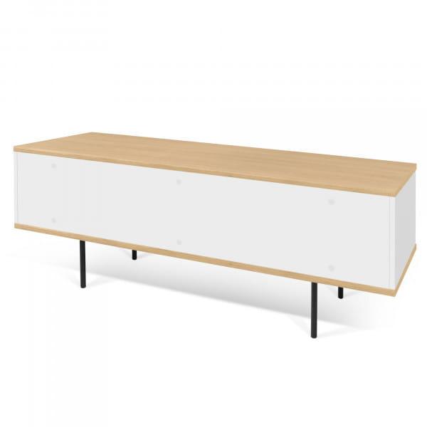 Temahome TV-Tisch Dixie - Eiche / Weiß, Rückseite