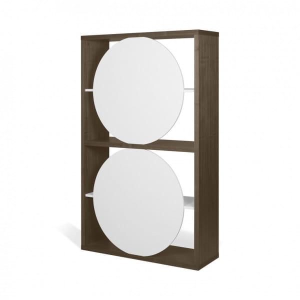 Temahome Designregal Zero - Walnuss / Weiß, Rückseite