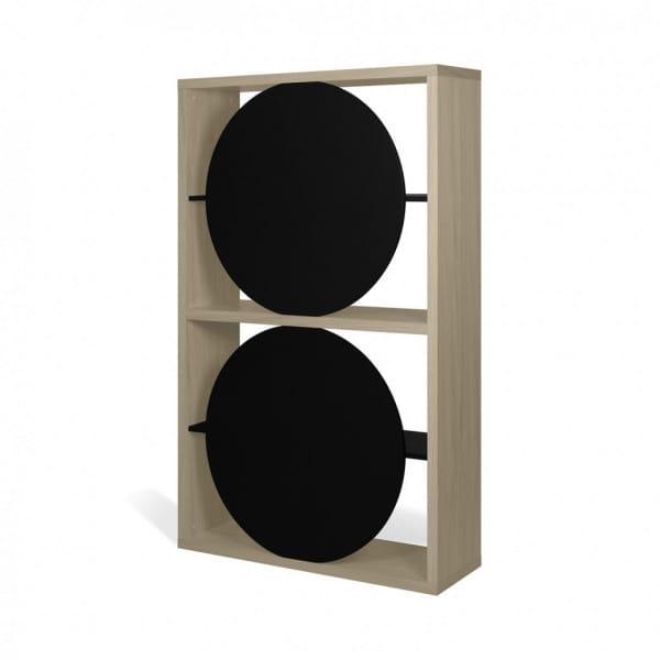 Temahome Designregal Zero - helle Eiche / Schwarz, Rückseite