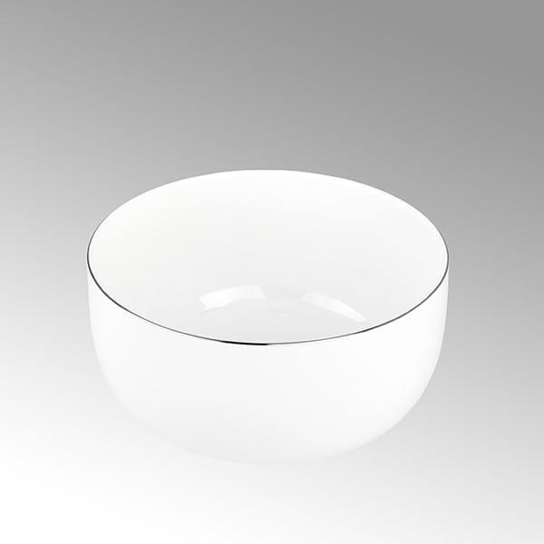 Lambert Müslischale Serene Weiß mit Platinrand