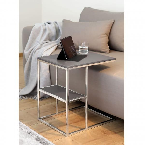 Fink Living Beistell- / Laptoptisch Paris - Grau, Ambiente