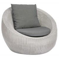 Stern Lounge-/Gartensessel Anny - Vintage Weiß / Seidengrau