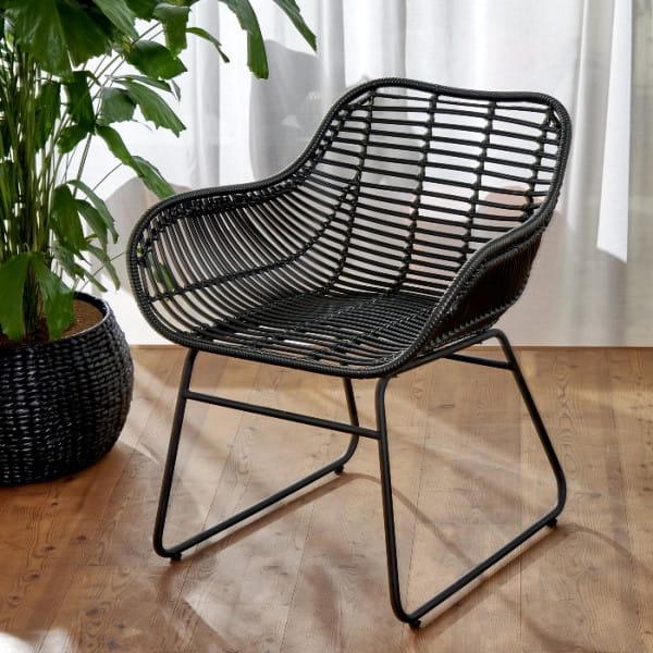 Outdoor Stuhl Armo schwarz