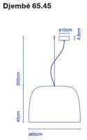 marset Pendelleuchte LED Djembe Maße 65.45