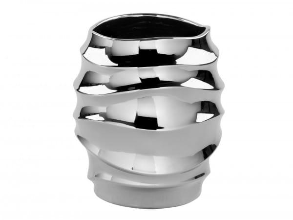Fink Living Vase/Übertopf Fabia - Silber, 41 cm hoch