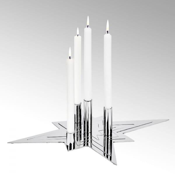 Lambert Sirius Kerzenhalter 4 teilig, silber H10cm 50x42cm