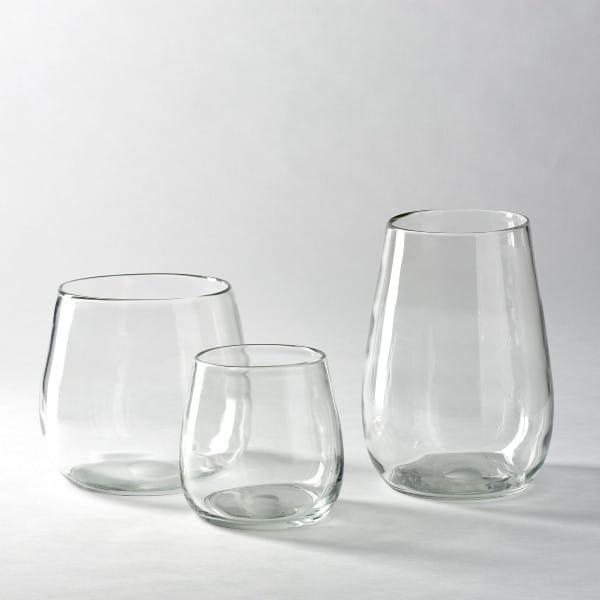 Vase Pisano von Lambert verschiedene Größen - Klarglas