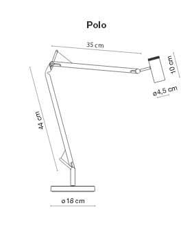 marset Tischleuchte Polo Maße
