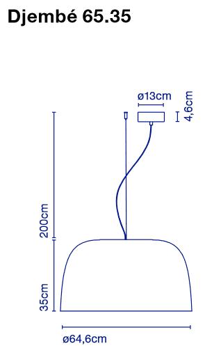 marset Pendelleuchte LED Djembe Maße 65.35
