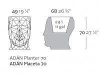 Blumentopf Adan - 70 cm