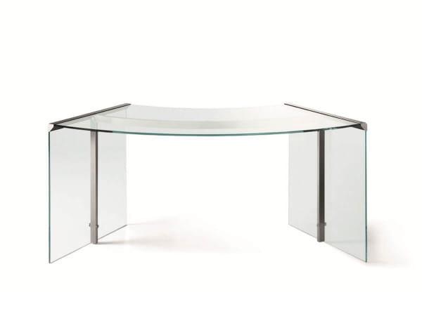Glas-Schreibtisch President Junior