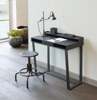 Lambert Harvey Schreibtisch / Schminktisch / Konsole Eiche teilmassiv schwarz gebeizt