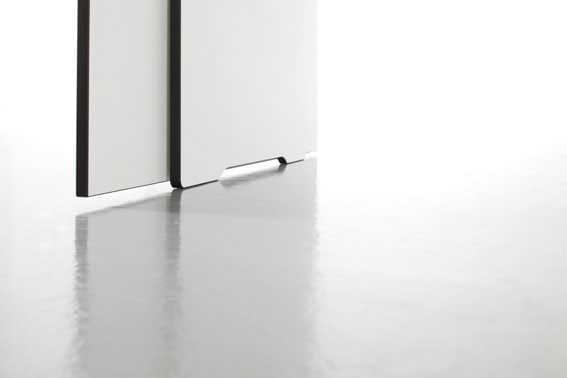 conmoto ausziehbarer Esstisch Riva Weiß 200x80/344cm Detail Fuß