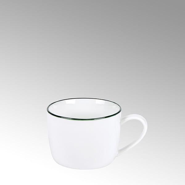 Lambert Espressotasse Piana Weiß mit basaltgrauem Rand