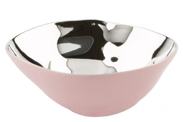 Fink Living Conca Schale - Rosa / Silber, 16 cm Durchmesser