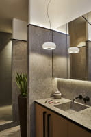 marset Pendelleuchte LED Vetra Weiß Ambiente Waschbecken