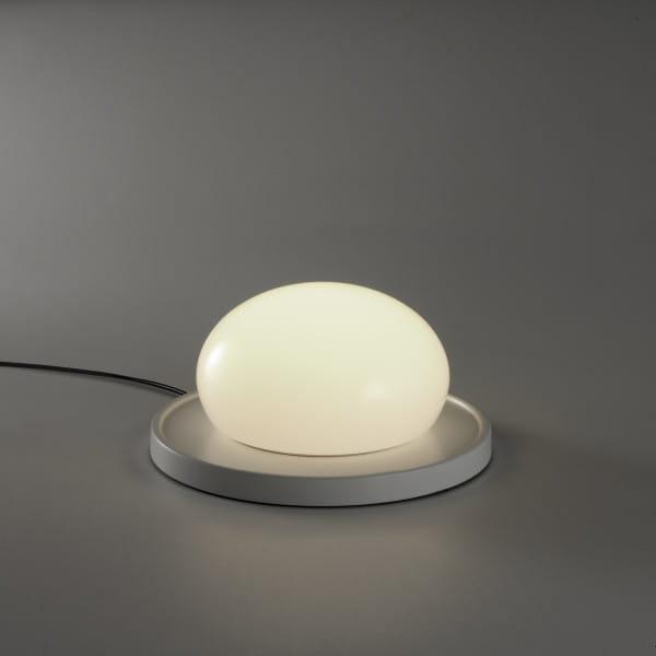 marset Tischleuchte LED Bolita Grau Hintergrund dunkel
