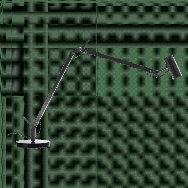 marset Tischleuchte Polo schwarz mit rundem Sockel cut-out