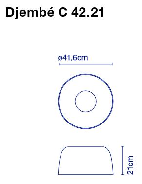 marset Deckenleuchte LED Djembe C 42.21 Maße